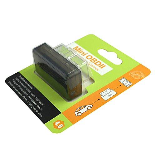 YINGNEW Mini ELM327 Bluetooth V40 OBDII OBD2 EOBD Car Auto Fault Code Scanner for iOSAndroidWindows Car Diagnostic Interface