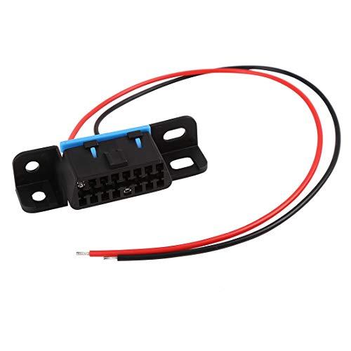 X AUTOHAUX Universal OBD2 Diagnostic Female Connector Adapter Extension Cable