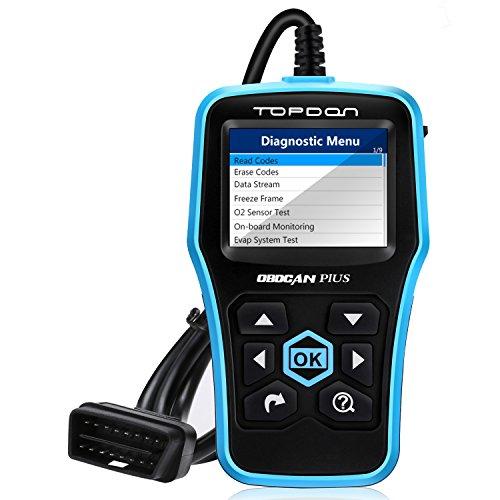 Topdon Car Engine Fault Code Reader Universal OBD2 Scanner Car Computer Diagnostic Scan Tool with O2 Sensor Test On Board Monitor Test Topdon Plus 20