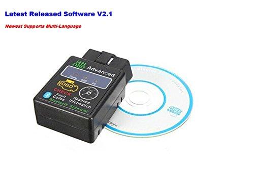 AllureEyes V21 Bluetooth ELM327 OBD2 HH OBD Scan Tool Diagnostic Scanner Car Auto Code Reader Scanner for Android Symbian Windows XP Windows 78