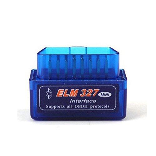 ELM327 Latest Version V21 Bluetooth Super Mini ELM327 OBD2 II Scan Tool Car Auto Diagnostic Tool for Windows blue