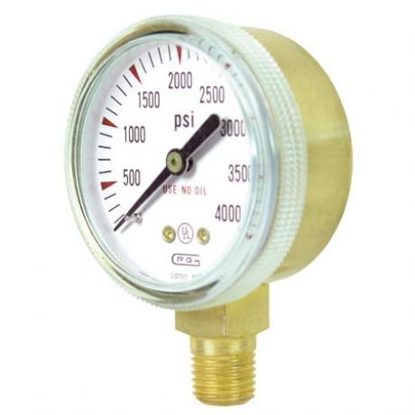 G20B-F400 GENTEC 2 inch 400 PSI Pressure Gauge