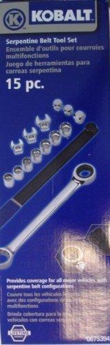 Kobalt 15pc Serpentine Belt Tool Set 23949