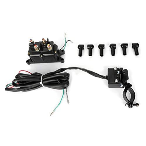 OCPTY 12V Solenoid Relay contactor Winch Rocker Switch Thumb ATV UTV Universal Kit