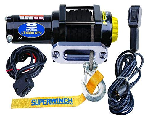 Superwinch 1140230 Black 12 VDC LT4000ATV SR Winch - 4000 lb Load Capacity