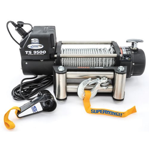 Superwinch 1595200 Tiger Shark 95 12 VDC winch 9500 lb4309 kg capacity with roller fairlead