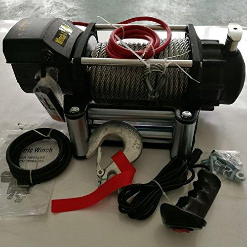 RACPLUS 17500 LB RECOVERY WINCH WATERPROOF TUFF STUFF XTREME 17000LBS ELECTRIC 12V WINCH