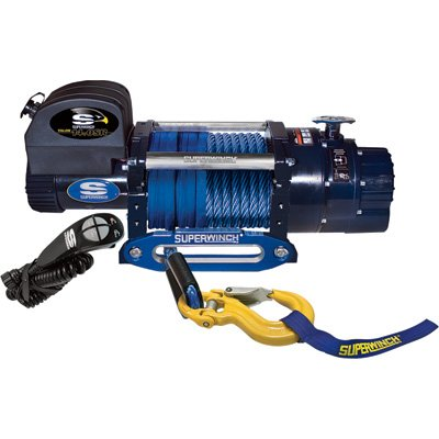 Superwinch 1614201 Talon 140SR 12 VDC winch 14000 lb6350 kg capacity with hawse fairlead synthetic rope