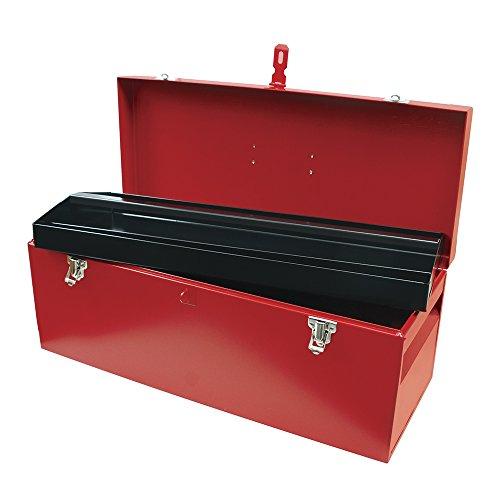 Heavy Duty Metal Tool Box 24-58L X 9-58W X 9-58H 24 Sheet Gauge