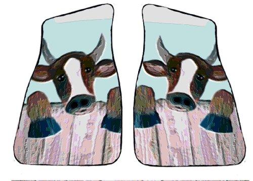 Cow Car Floor Mats