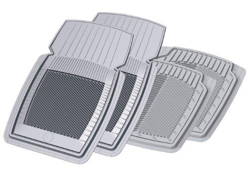 Koolatron Pants Saver New Generation Compact 4 Piece All Weather Car Mat Set Gray