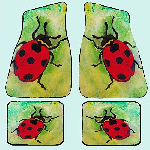 Lady Bug Auto Car Floor Mats Rear pair 17 x 13