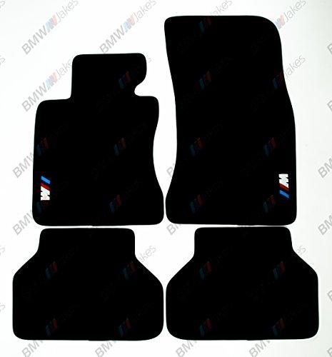 NEW CAR FLOOR MATS BLACK with M EMBLEM for BMW 5 series E60 2004 - 2009