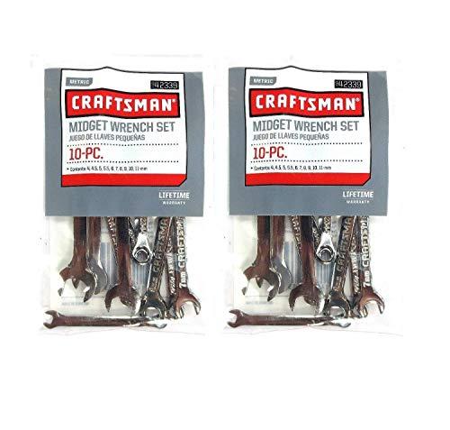 2 New Craftsman 10 Pc Metric Mini Midget Ignition Combination Wrench Set 42339