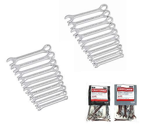 Craftsman 20 Piece Standard SAE Metric MM Midget Ignition Wrench Set