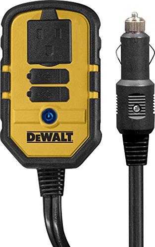 DEWALT DXAEPI140 Power Inverter 140W Car Converter 12V DC to 120V AC Power Outlet with Dual 31A USB Ports