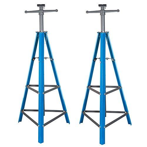 2 Ton Tri-Pod Under Hoist Stand 53 - 80 Support Hoist Lift Floor Car Stand x2
