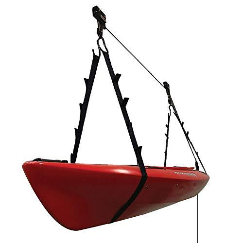 Extreme Max 30040204 KayakCanoeBikeLadder Hoist Lift for Storage in Shop or Garage - 120 lb Capacity