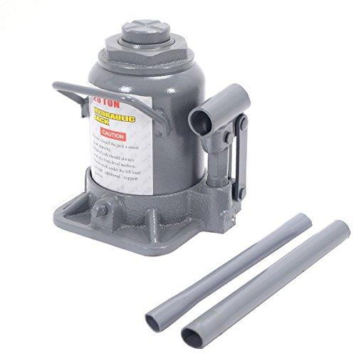 Goplus Hydraulic Bottle Jack - 20 Ton Low Profile Automotive Shop Axle Jack Hoist Lift
