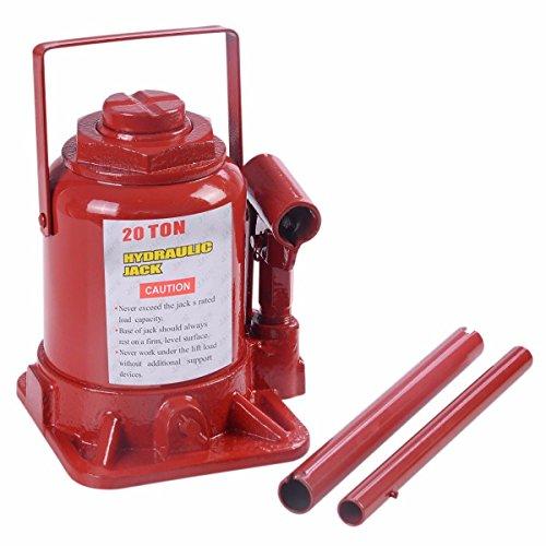 Hydraulic Bottle Jacks 20 Ton Capacity Low Profile Floor Car Automotive Shop Axle Jack Hoist Lift - House Deals