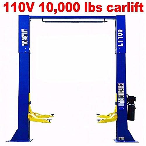 XK L1100 Over Head 10000lbs Car Lift 2 Post Lift Car Auto Truck Hoist w 12 Month Warranty 110V