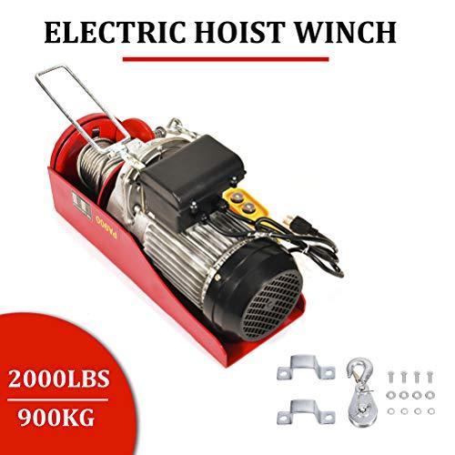 cciyu Electric Workshop Garage Hoist 110V 2000 LBs for Vertically Lifting