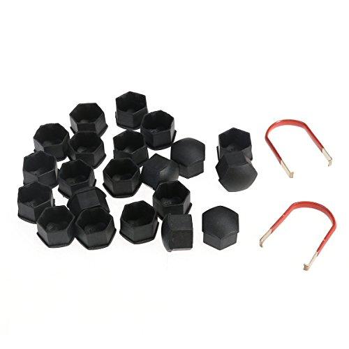 WINOMO 20pcs 17mm Car Wheel Nut Cover Bolt Cap with Removal Tool for VW Golf Bora Passat