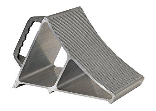 Vestil EALUM-7-HNDG Aluminum Wheel Chock with Hand Grip Silver