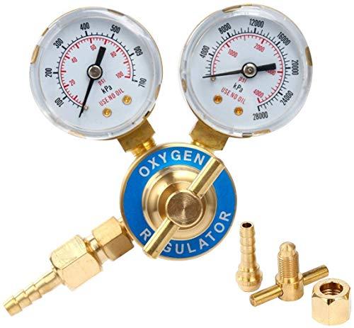 8MILELAKE Oxygen Regulator Welding Gas Welder Gauges CGA 540