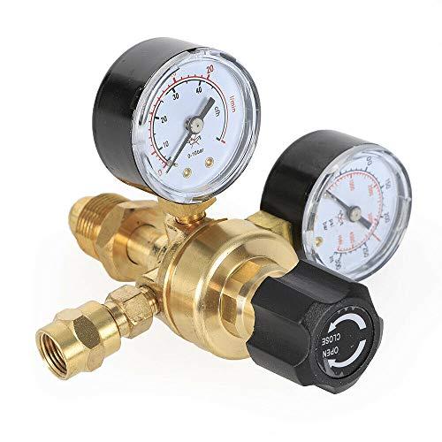 Argon CO2 Flow Meter Regulator Gauge 4000PSI Gas CGA580 Welding Welder Pressure Control Fitting ARGCO2 Gauge Miller Mig Tig Brass Regulator Body