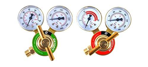 SÜA - Oxygen and Acetylene Regulators Welding Gas Gauges -Pair - Rear Entry - LDB series