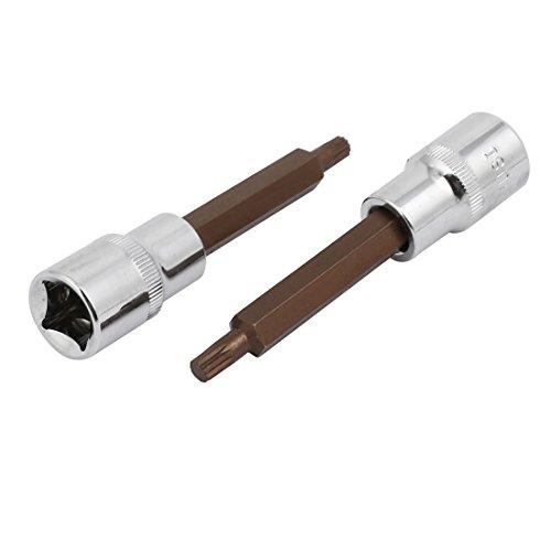uxcell Chrome-Vanadium 12-inch Square Wrench Drive 6mm Torx Head Nut Driver 2pcs