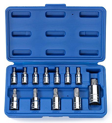 Neiko 10085A 5-Point Tamperproof Torx Plus Bit Socket Set Cr- V  12-Piece Set