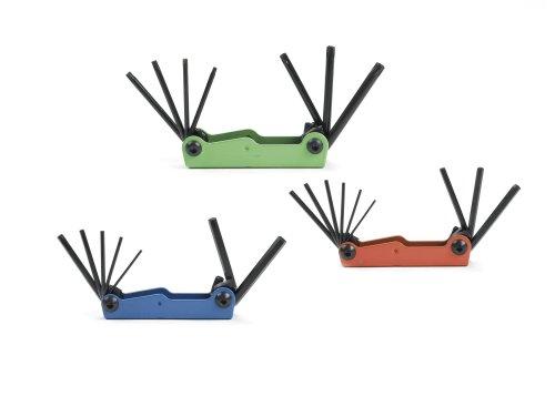 K-D Tools 56301 3-Piece Hi-Vis Neon Hex and Torx Fold-Up Key Set