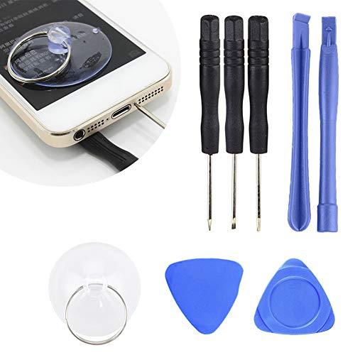 lEIsr00y 8Pcs Smart Mobile Phone Screwdriver Opening Disassemble Precision Repair Tools Blue