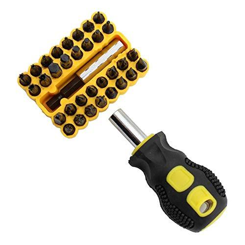 WXH 34 in 1 Screwdriver Tool Kit Precision Repair Screwdriver Set Multi-Function Magnetic Repair Tools Family Jobs Universal Industry Workshop