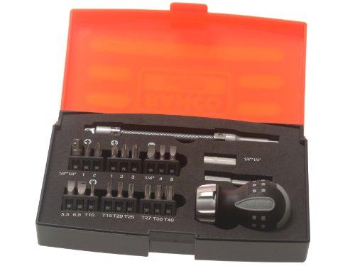 Bahco 808050S-22 Stubby Ratchet Screwdriver Set 22-Piece