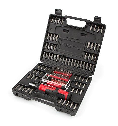 TEKTON 2841 Everybit TM Ratchet Screwdriver Electronic Repair Kit and Security Bit Set 135-Piece