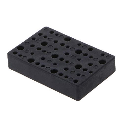 KUKALE Tool Box 45 Holes Electric Drill Bit Block Drill Head Holder Organizer Case