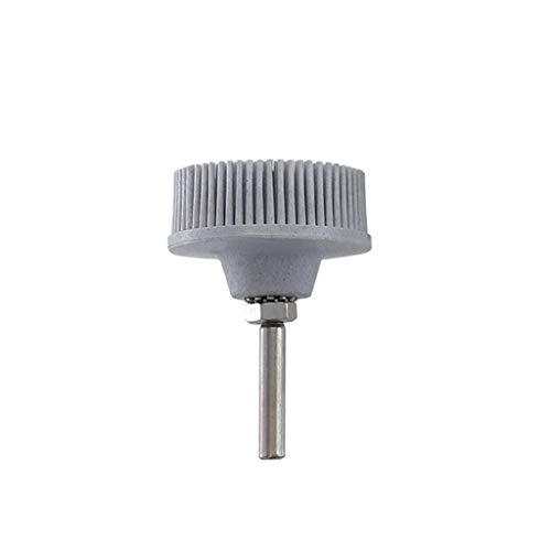 Meet&sunshine Electric Drill Disc Brush Emery Rubber Abrasive Brush Deburring Polishing Brush Good Elasticity Toughness Metal Finishing Clean and Polish A