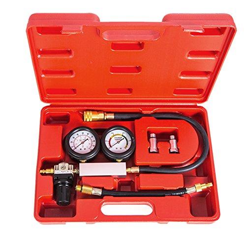 Awakingdemi Compression Tester Kit Cylinder Leakage Leakdown Leak Detector Engine Compression Tester Gauges