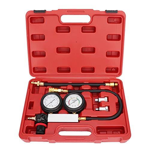 Qiilu Cylinder Leak Detector - Engine Pressure Gauge Compression Tester Kit for Piston Ring Valve Head Gasket Diagnosis Leakage Test Set