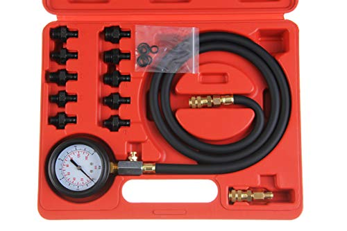 Shankly Oil Pressure Gauge Compression Tester - Mechanical Engine Compression Testing Kit