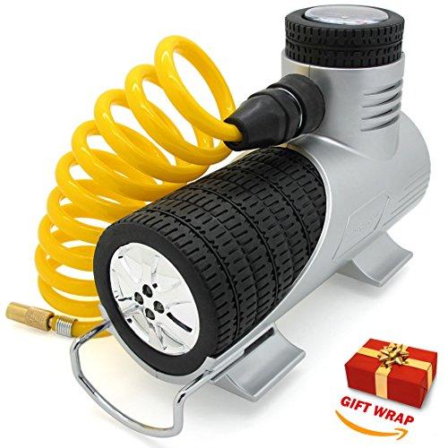 TireTek Compact-Pro Portable Tire Inflator Pump - 12V Air Compressor 30LPM