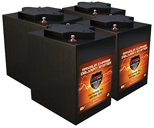 Qty 4 VMAX V6-225 62kWh 24V AGM Solar Battery Bank for Home RV or Industrial 4 6V 225Ah AGM Deep Cycle Batteries 6 Volt Maintenance Free