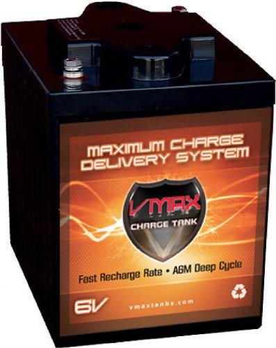 VMAXTANKS 6 Volt 225Ah AGM Battery High Capacity Maintenance Free Deep Cycle Battery for Golf Carts Solar Energy Wind Energy