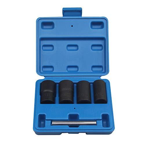 5pcs Twist Socket Set Wheel Lock Nut Remover Removal 17 19 21mm 22mm