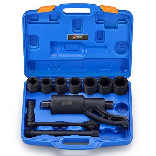 EWK 7 Sizes Socket 1 inch Dr HD Torque Multiplier Wrench Lug Nut Remover Set