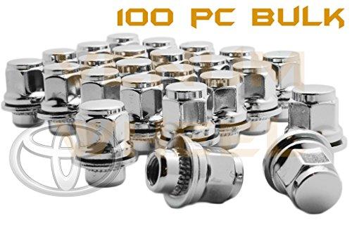 100 Pc Bulk Mag Seat Lug Nuts OEM Lug Nuts Factory Style Extra Lug Nuts Chrome 12x15 Thread Pitch 145 Tall Mag Wheels Only