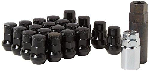 Wheelmate 32926BP Muteki SR35 Close End Lug Nut with Lock Set Black 12 x 150 35mm